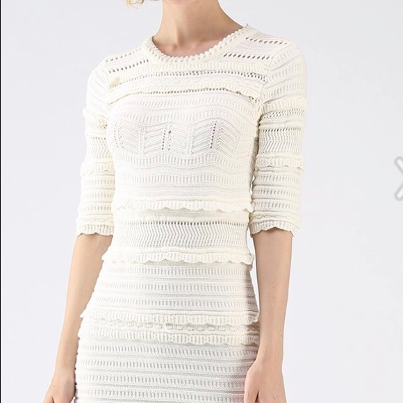 Chicwish Dresses Cream Color Sweater Dress Nwt Poshmark